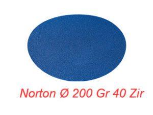 NORTON Ø 200 Gr 40 Zir